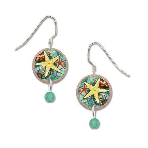 Round starfish with bead