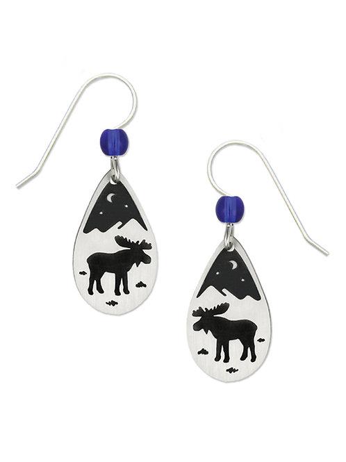 Moose teardrop earrings