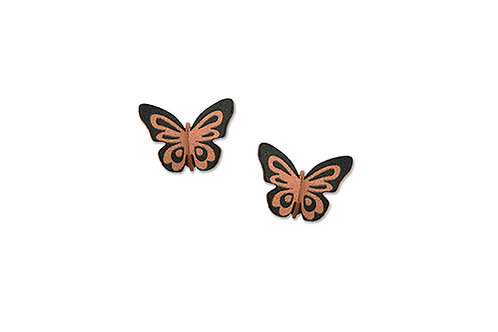 3-D Fantasy butterfly post in Coral