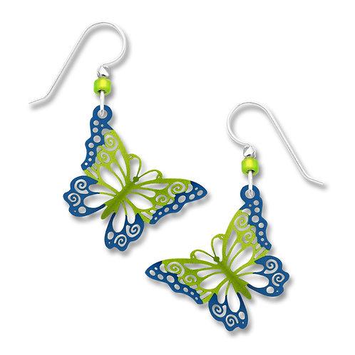 Folded Filigree Green butterfly