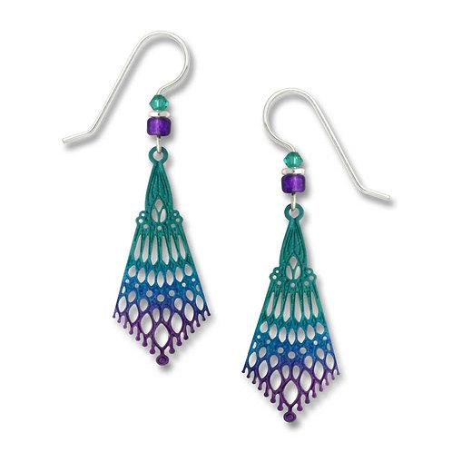 Deep turquoise & violet 'Persian' detail drop