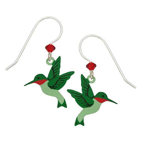 Hand-painted Hummingbird Earrings