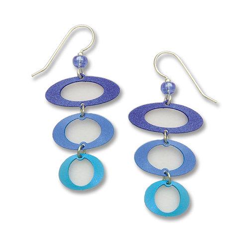 3 Open ovals in blue & aqua metallic
