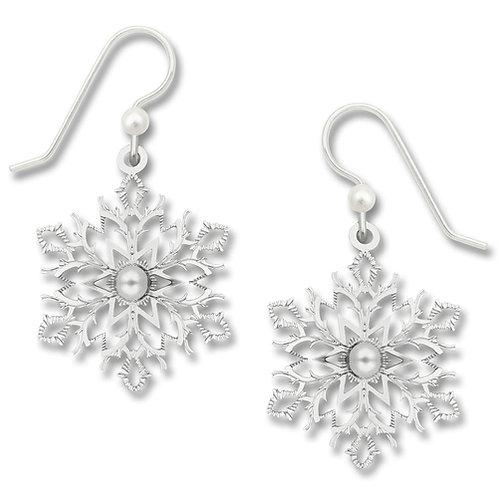 IR filigree snowflake with glass pearl cab
