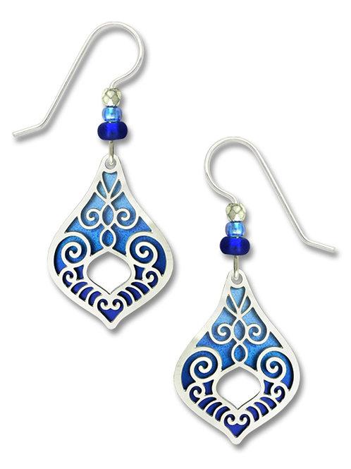 IR open pendulum drop w/azure blue ombre backer