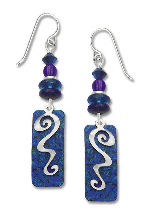 Column Lapis Blue w/Beads & Silvertone Overlay