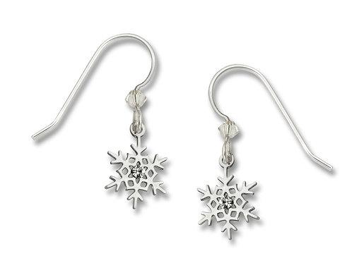 Polished Snowflake w/white crystal