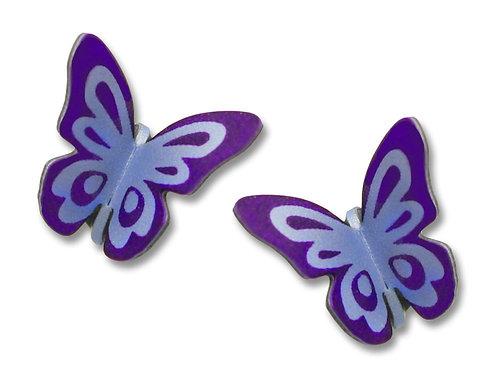 Purple folded butterfly post