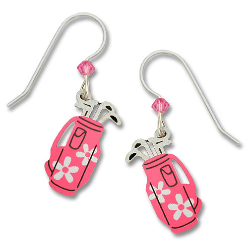 Pink Daisy Golf Bag Earring