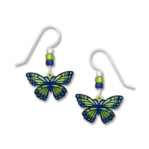 Green & Dk Blue Fantasy Butterfly