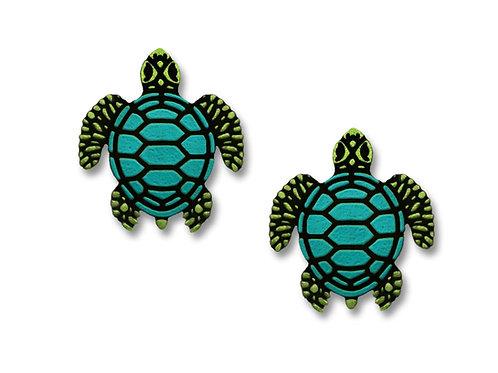Green Sea Turtle w/ Blue Shell - Post