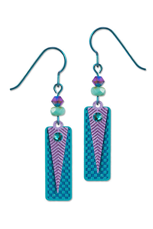 Teal and Lilac Geometrical Shapes