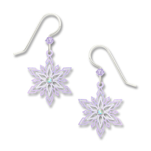 Pale violet snowflake w/ cab