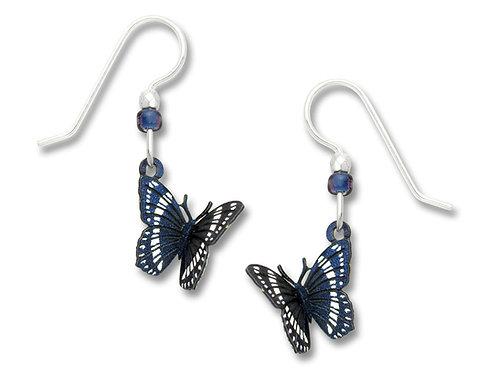 Folded dark blue & white butterfly