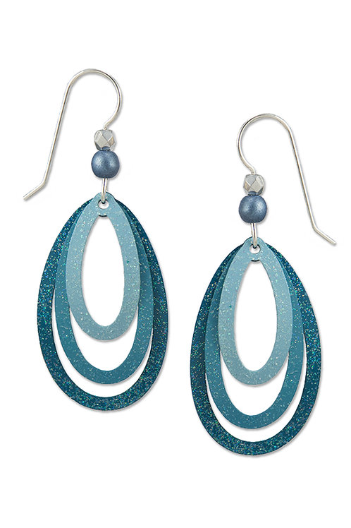 Open Teardrop Trio in Teals