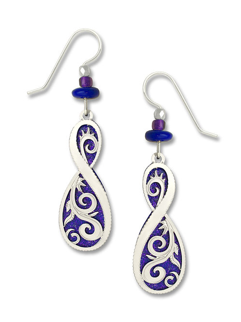 Sparkling Deep Blue-Purple Figure 8 w/ IR Filigree Overlay