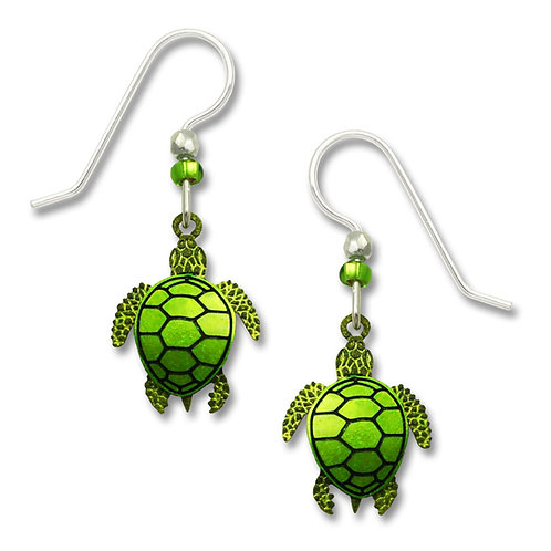 Yellow-green & olive two-part turtle