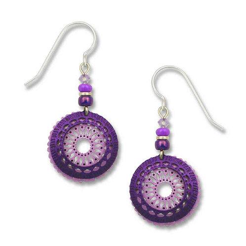 Light Violet Filigree Circle w/Rich Purple Ring