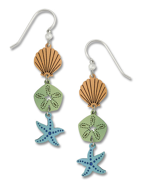 3-Part Starfish, Sanddollar, Shell