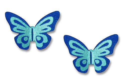3-D Fantasy butterfly post in blue