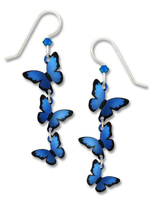 3-part 3-D Blue Morpho Butterflies