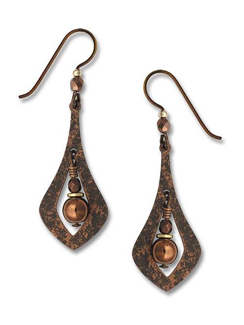 Brown Open Necktie Shape w/Beads