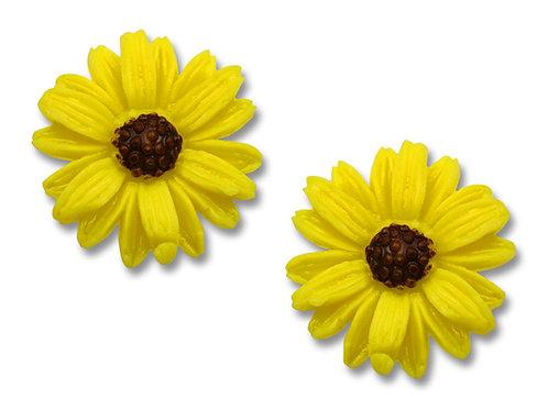 Yellow sunflower post