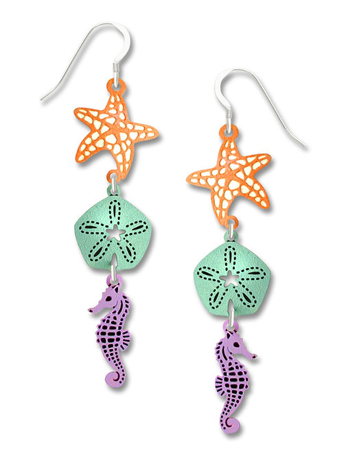 3-part sea star, sand dollar seahorse