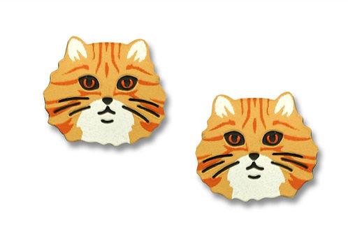 Orange tabby cat face - post