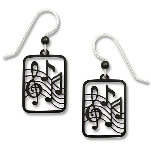 Black Treble Clef and Notes
