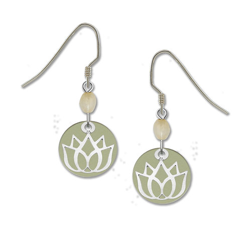 Lotus Charm Over Warm Gray Round Disc