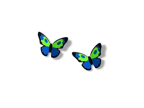 Blue/Green/Black Butterfly - Post