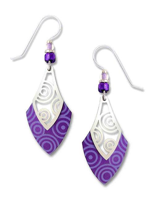 Purple w/Circles Open Spade w/IR Filigree
