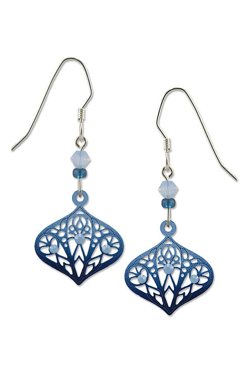 Dark and Light Blue Moroccan-style Drop