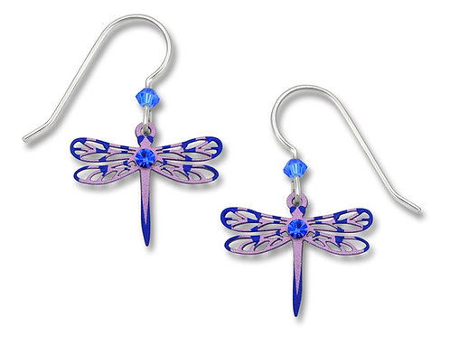 Striped Dragonfly w/Rhinestone