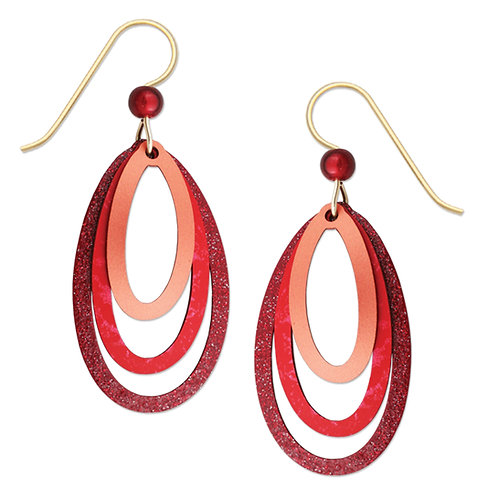 Rich Red and Copper 3 Layer Ovals
