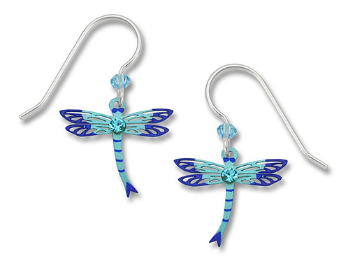 Blue Dragonfly w/Ice Blue Stone