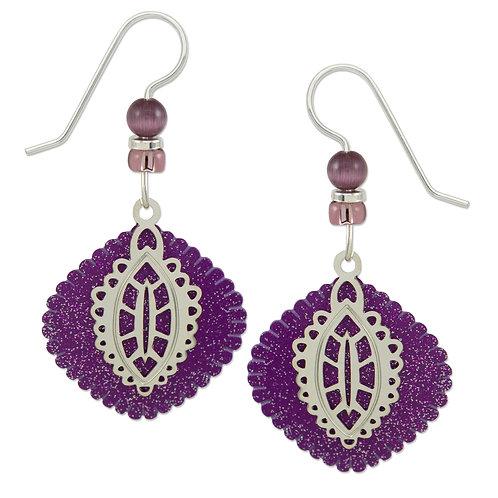 Purple Round Diamond w/ Frills