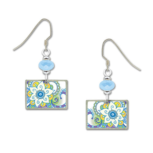 Blue floral rectangle