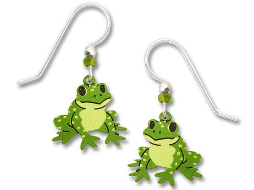 Green speckled frog