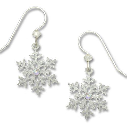 Pearl White Snowflake w/Rhinestone