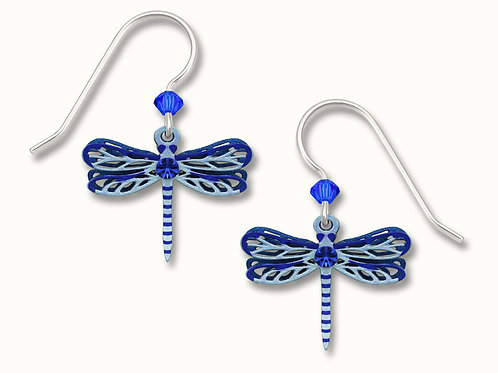 2-Part Blue Dragonfly w/Sapphire Blue Crystal