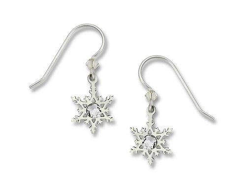 Filigree snowflake w/crystal