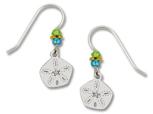 Silvertone Sand Dollar Earrings
