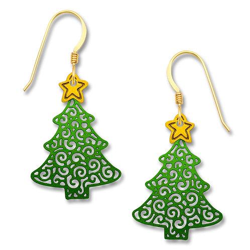 Filigree Christmas tree with star