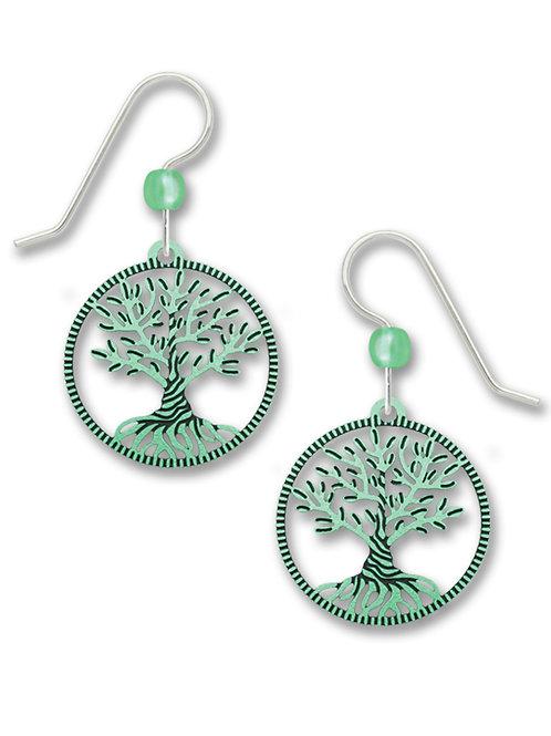 Aqua Green Twisted Tree of Life