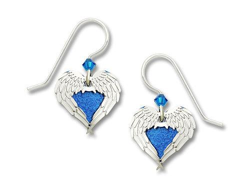 IR angel wings over blue heart