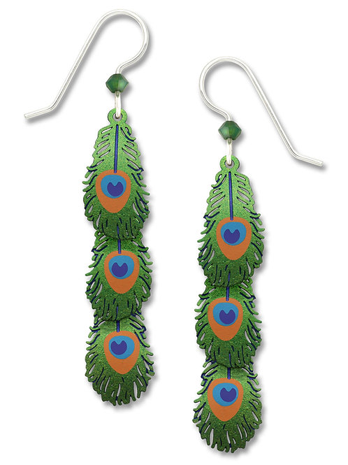 3-Tier Peacock Feathers