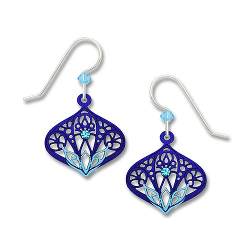 Aqua/Blue Moorish Teardrop w/Aqua Rhinestone