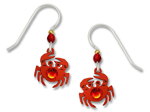 Crab w/Rhinestone Earrings